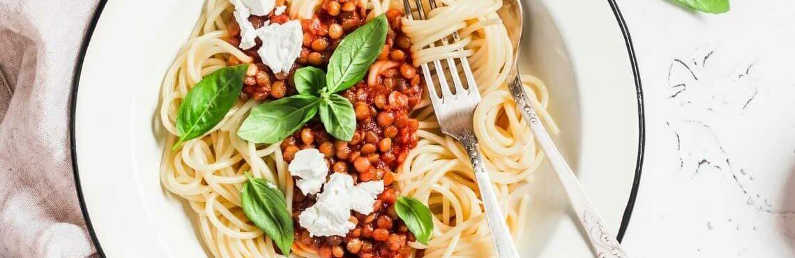 Delizioso: Pasta mit Linsenbolognese