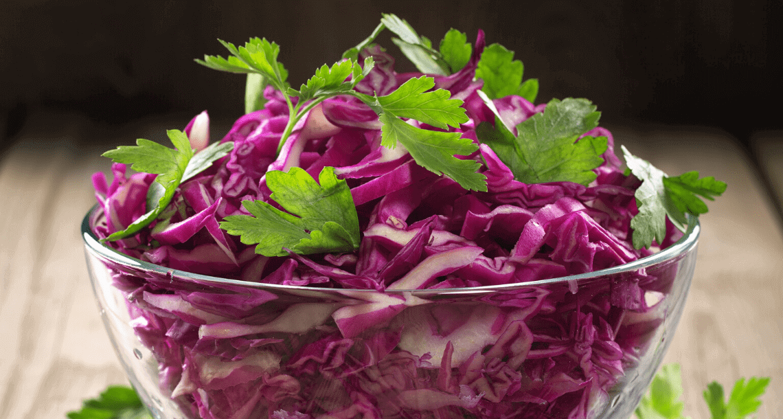 Süß-saures Gemüse: Rotkohl
