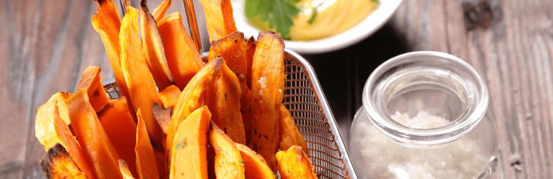 Ein moderner Klassiker: Süßkartoffelpommes