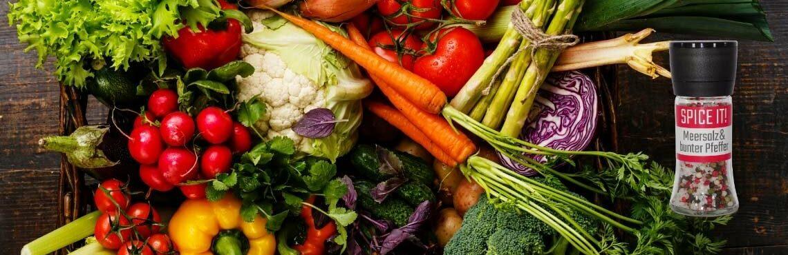 Vegetarisch & vegan kochen mit Gemüse